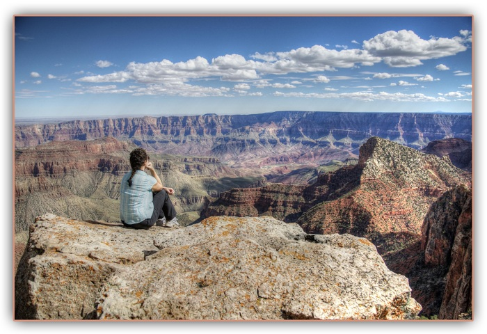 Ellie and the canyon..