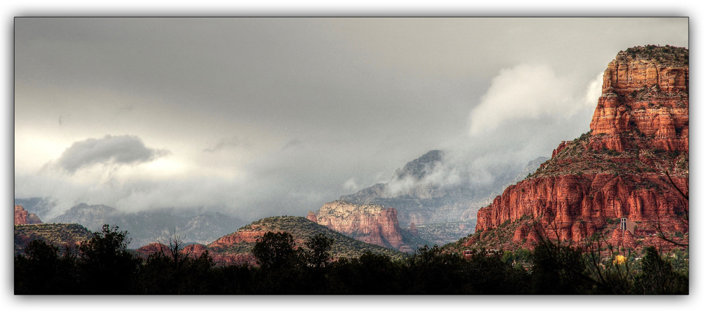 photoblog image Low clouds in Sedona