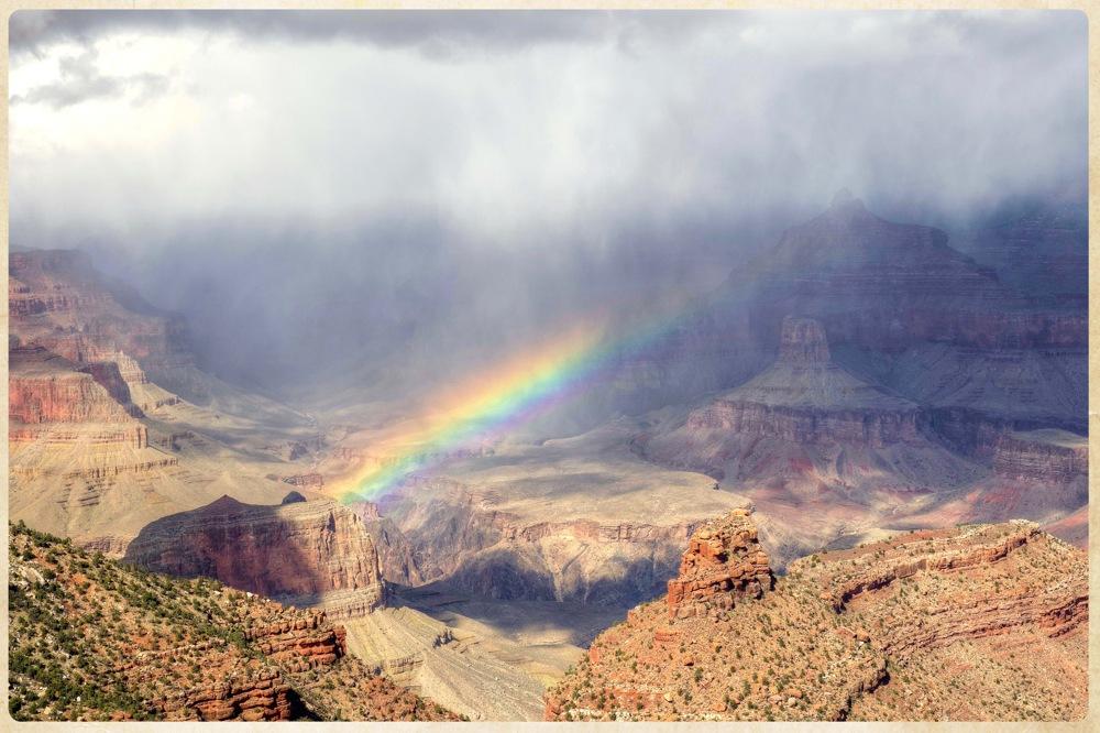 photoblog image Grand Canyon rainbow.....